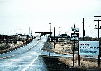 The most prominent germ warfare test site was dugway proving grounds
